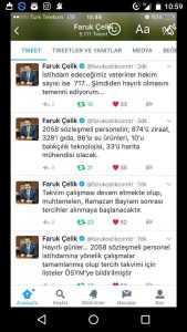 Bakan faruk çelik twitter üzerinden açıklama yaptı